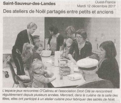 Ouest france 2017 12 12 ateliers intergenerationnels